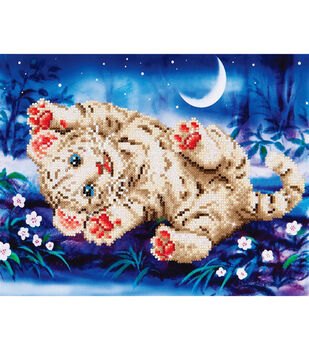 """Diamond Embroidery Facet Art Kit 17""""X13.7""""-Baby Tiger Roly Poly"""