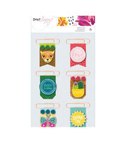American Crafts New Day Dear Lizzy 6 pk Layered Paper Clips, , hi-res