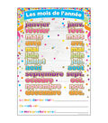 French Immersion Chart Confetti Months 10pk