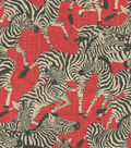 Waverly Upholstery 8x8 Fabric Swatch-Herd Together/Ruby