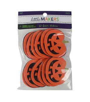Little Makers Halloween 12 pk Glitter Foam Stickers