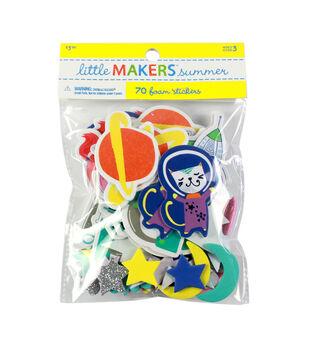 Little Makers Summer 70 pk Foam Stickers-Science Rules