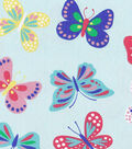 Doodles Collection Twill Fabric-Butterfly Mint