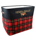 Christmas Large Soft Storage Bin-Plaid & Beautiful Blessing