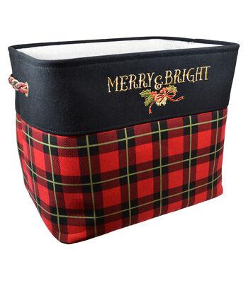 Christmas Large Soft Storage Bin-Plaid & Beautiful Blessing