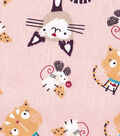 Snuggle Flannel Fabric -Cat & Mouse