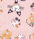 Snuggle Flannel Fabric 42\u0022-Cat & Mouse