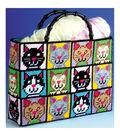 Cat Tote Bag Plastic Canvas Kit-12\u0022X13\u0022X9\u0022