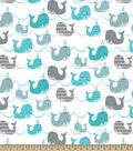 Baby Whale Print Fabric