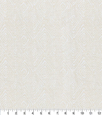 Kelly Ripa Home Upholstery Fabric 54''-Ivory Set In Motion