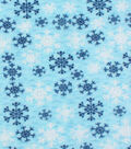Anti-Pill Fleece Fabric 61\u0022-Snowflake Blue