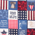 No Sew Fleece Throw 72\u0022-Land of the Free Patchwork