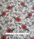 Silky Stretch Chiffon Fabric 57\u0027\u0027-Coral Floral on Taupe