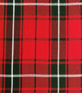 Perfectly Plaid Rayon Fabric 54\u0022-Red Black White