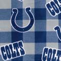 Indianapolis Colts Fleece Fabric-Buffalo Plaid