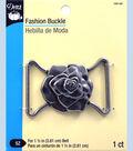 Dritz Fashion Buckle Rose Antique Silver 1.5\u0022