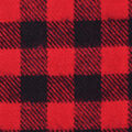 Flannel Shirting Fabric-Red Black Gingham Check