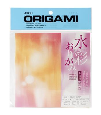 Aitoh Tie Dye Origami Paper 36/Pkg