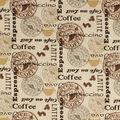 Super Snuggle Flannel Fabric-Coffee Patch