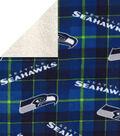 Seattle Seahawks Fleece Fabric-Plaid Sherpa