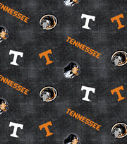 "University of Tennessee Volunteers Flannel Fabric 42""-Distressed Logo, , hi-res"