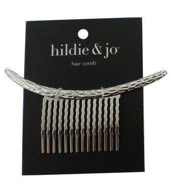 hildie & jo Hammered Silver Hair Comb
