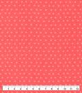 Snuggle Flannel Fabric-Sugar Coral Tonal Dot