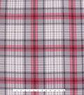 Blizzard Fleece Fabric 59\u0022-Madison Red & Gray Plaid