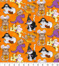 Halloween Cotton Fabric-Cats Costume Party