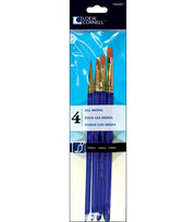 Loew-Cornell 4 pk Taklon Craft Brushes, , hi-res
