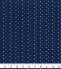 Keepsake Calico Cotton Blender Fabric 43\u0022-Blue Depths