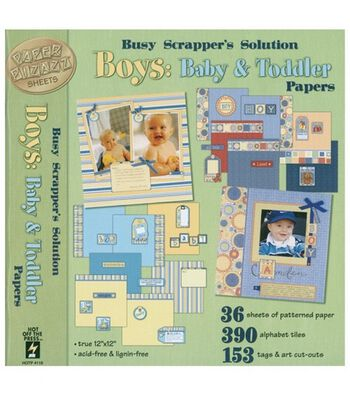"Hot off the Press 12""x12"" Busy Scrapper's Solution-Baby&Toddler: Boy"
