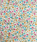Cotton Shirting Fabric 57\u0027\u0027-Multicolor Ditsy Floral on White