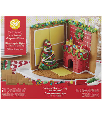 Wilton Gingerbread Kit-Cozy Fireplace