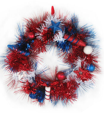 Land of the Free 20'' Tinsel Wreath