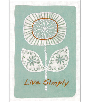 Dimensions Live Simply Mini Crewel Kit-Simple Flower