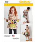Simplicity Patterns US8101A Children-3-4-5-6-7-8