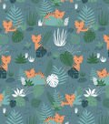 Snuggle Flannel Fabric-Jungle Tigers