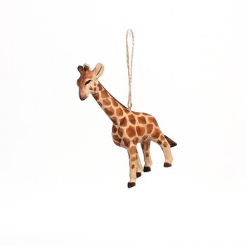 Handmade Holiday Christmas Wood Giraffe Ornament