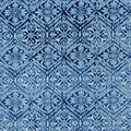 Luxe Flannel Fabric-Floral Medallions on Denim