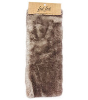 "Fab Lab 9""x12"" Craft Faux Fur-Black Tipped, , hi-res"