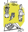 Carabelle Studio Azoline 3 pk A6 Cling Stamps-Zinouk Fairy of Colors