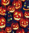 Halloween Cotton Fabric 43\u0022-Wizard Pumpkins