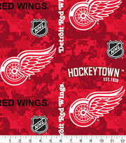Detroit Red Wings Fleece Fabric-Digital, , hi-res