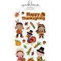 Park Lane Paperie 19 pk Stickers-Happy Thanksgiving & Kids