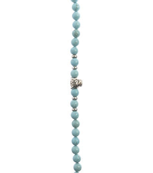 hildie & jo Strung Beads-Turquoise Howlite Beads with Leopard Charm