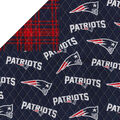 New England Patriots Double Faced Quilt Fabric