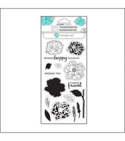 Hampton Art Layering Clear Stamp-Flower Happy, , hi-res