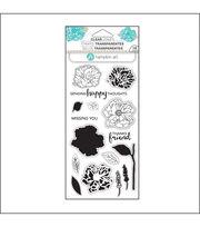 Hampton Art Layering Clear Stamp-Flower Happy, , hi-res