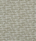 Harvest Cotton Fabric-Green Thanksgiving Words